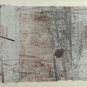 """Quiescence #II, 1/1, 2000, etching and engraving on handmade paper, image 16"""" X 21"""""""