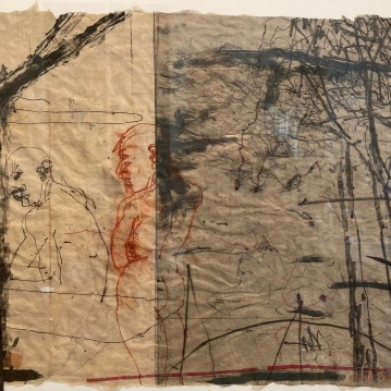 """Launch, 2000, engraving and mixed media on handmade paper, 15.5"""" X 20"""", $1500"""