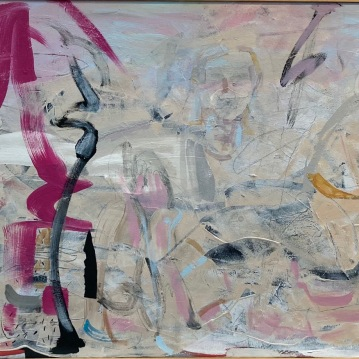 """The Waves, '15, Acrylic and Mixed Media on canvas, 30"""" X 60"""", $4000"""